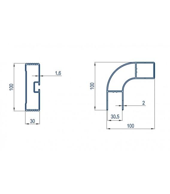 End aluminium profile