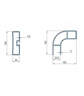 Curve aluminium profile