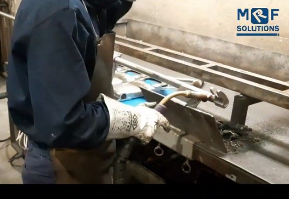 An example of the manufacturing processes at the MRF factory.